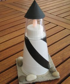 Lighthouse craft for kids.