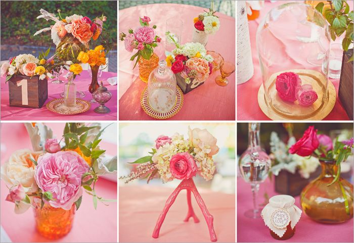 Centerpieces by Amy Osaba | Photo by W. Scott Chester ( Cator Woolford Gardens Atlanta)
