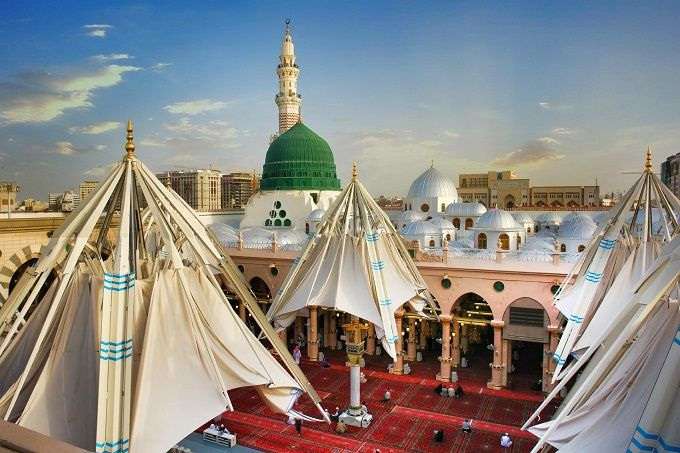 Very beautiful Mosque of the Holy prophet ( pbuh )