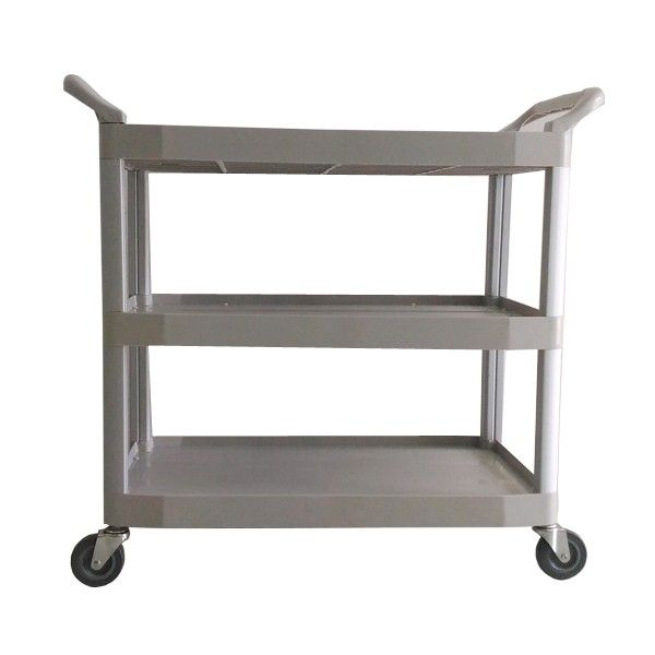 Large Dinner Trolley Cart Grey.  - Type:308NA-TCAB - Material:PP - Color:Grey - product size :104X50X96CM - Harga per Unit.  http://alatcleaning123.com/janitorial-trolley/1644-large-dinner-trolley-cart-grey.html  #dinnertrolley #alatcleaning