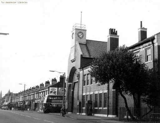 Manchester Corporation Tramway Building on Princess Road, Moss Side, Greater Manchester, England, United Kingdom, 1967, photographer unknown.