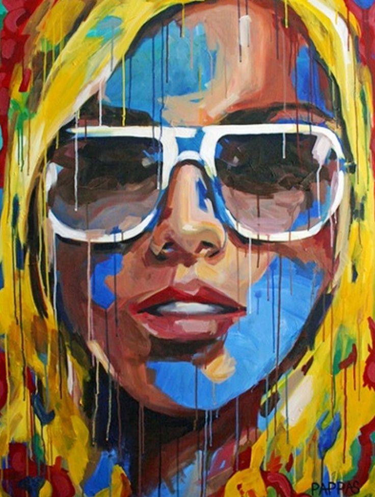Rostros De Mujeres Pintadas Mujeres Pinterest Pintura