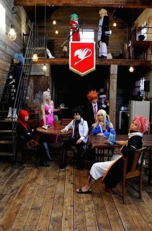 "Omg got to go there fairy tail, but just imagine walking into that building and they all turn to you and just everything does silent then out of no where someone just jumps out and shouts ""New guild member!"" then everyone cheers and you get a stamp and get to talk and hang out with everyone"