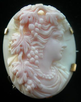 Superb 19thC Italian Gold Silver Mounted Shell 'Classical Lady' Cameo Brooch | eBay