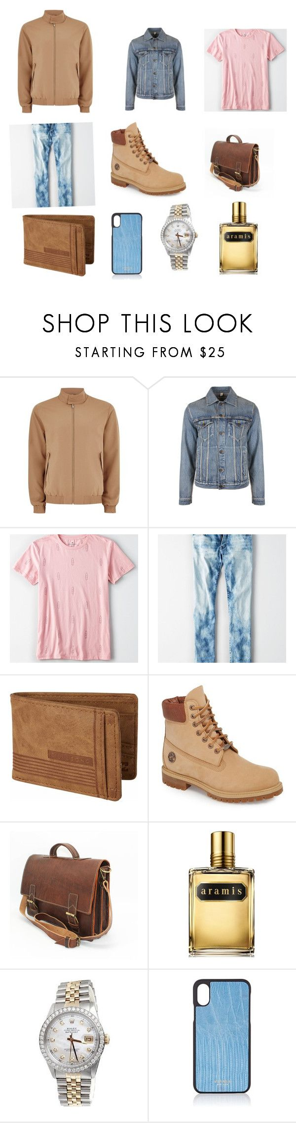 """Kai's clothes #3"" by justaailurophile ❤ liked on Polyvore featuring Topman, Kent & Curwen, American Eagle Outfitters, Billabong, Timberland, Aramis, Rolex, Vianel, men's fashion and menswear"