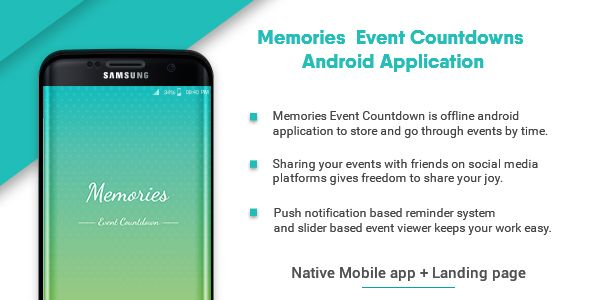 cool Memories - Occasion Countdown ( Complete Native Mobile Application ) (Complete Applications)