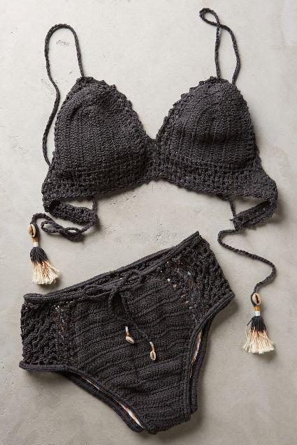 She Made Me Crochet High-Rise Bottoms - anthropologie.com #anthroregistry