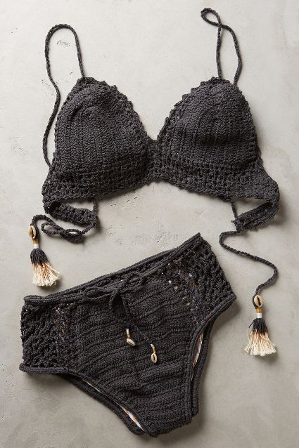 She Made Me Crochet High-Rise Bottoms - anthropologie.com #anthroregistry