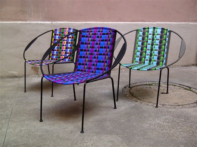 Mobilier fauteuils togo beno t guyo tissage plastique style africain si ges fp mobilier - Canape style africain ...