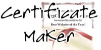Certificate Templates and Award Certificate Maker:  create awards for over 70 different themes in 1000+ different styles.  All text is 100% customizable so you can make certificates for any occasion: formal, sports, school, holidays, cute, cool styles and more.  These are available from 123Certificates.com, another site in the MES network.
