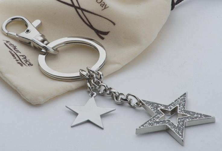 stars diamante keyring