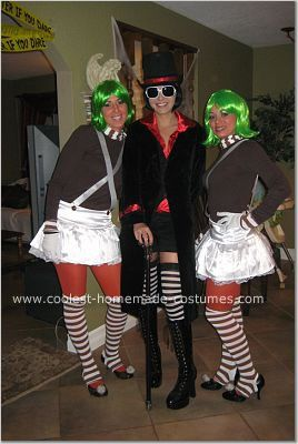 Homemade Willy Wonka and Oompa Loompas Group Costume: OOmpa Loompa Doopity Doo,  Willy Wonka Let us off work for a day of Candy making to enjoy Halloween.  I really wanted to be something different than the