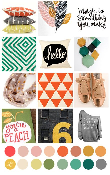 @studio_calico October kit mood board. makes me all kinds of happy.