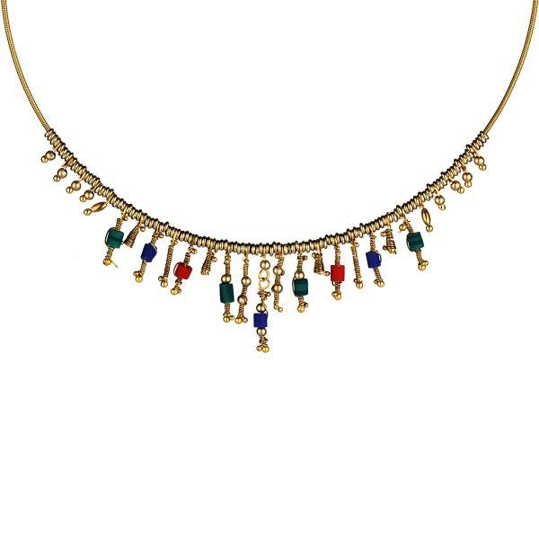 Afgan Taş Etnik Kolye #kolye #etnik #boncuk #takı #aksesuar #moda #stil #bahartakıları #trend #renkli #necklace #fashion #accessory #colourful #trendy #stilish #ethnic