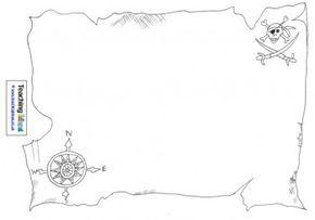 simple printable pirate map free | Talk Like A Pirate Day} Design A Treasure Map | Preschool Printables