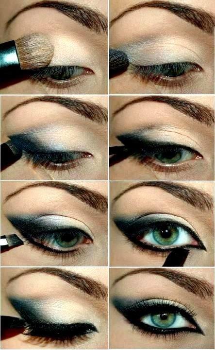 G.ECE.D: kedi gözü makyajı yapılışı resimli anlatım