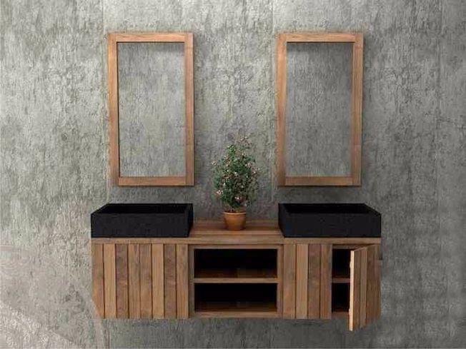 Arreda il tuo bagno con i nostri mobili etnici in teak e i lavelli in pietra. Costruiamo anche su misura la tua idea di arredo. Scopri tutti i modelli!