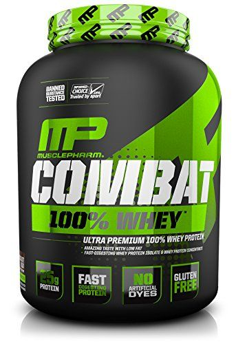 Muscle Pharm Combat 100% Whey Protein Powder, Chocolate Milk, 5 Pound
