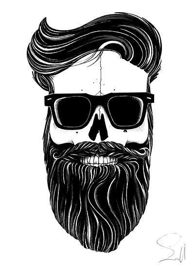 Hipster Skull Más