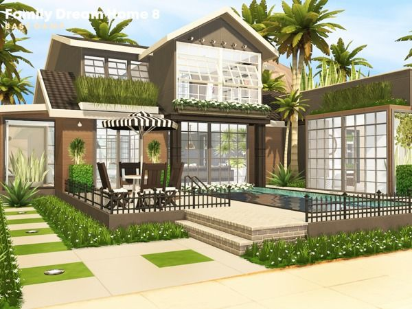 Pralinesims Family Dream Home 8 Sims House Plans Sims House Sims 4 House Design