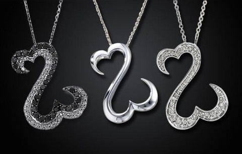 Sterling Silver Open Heart Necklace - Save 83% Just $24 - Free Shipping