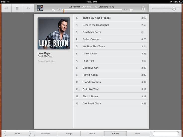 Luke Bryan's new album!