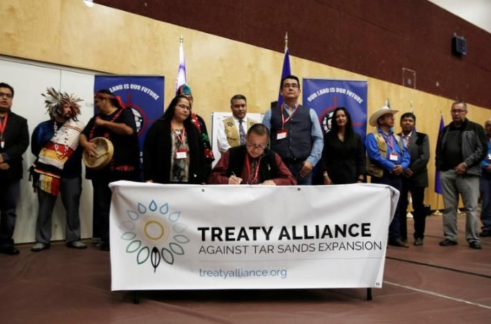 """U.S., Canada aboriginal tribes form alliance to stop oil pipelines  And we will also work with our tribal allies in Minnesota as they take on Enbridge's Line 3 expansion, and we know they'll help us do the same against Energy East,"""" he said, referring to TransCanada's plan to carry 1.1 million barrels of crude per day from Alberta to Canada's East Coast. Reuters"""