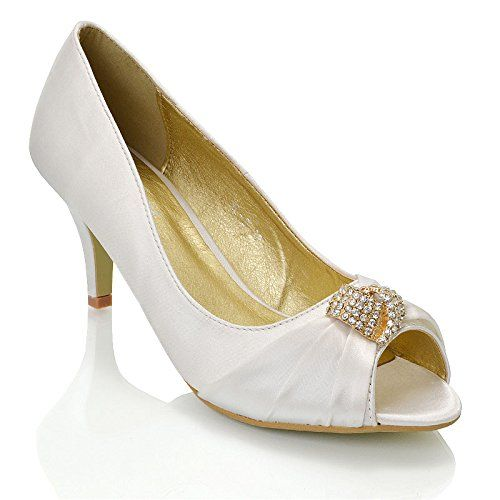 Women Heel Shoes Ankle Strap Rhinestone Appliques Prom Evening Party Size 36- 41