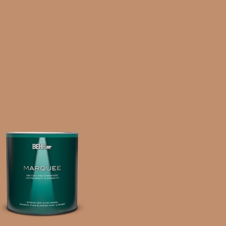 Behr Marquee 1 Qt 260f 5 Applesauce Cake Semi Gloss Enamel Interior Paint Primer 345404 The Home Depot In 2020 Behr Marquee Behr Marquee Paint Interior Paint