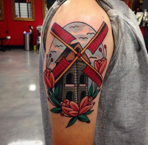 traditional windmill tattoo - Google Search