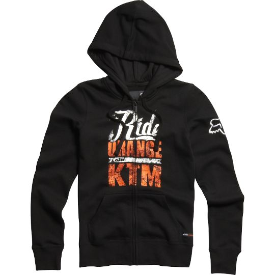 Fox Womens KTM Ride Orange Zip Hoody