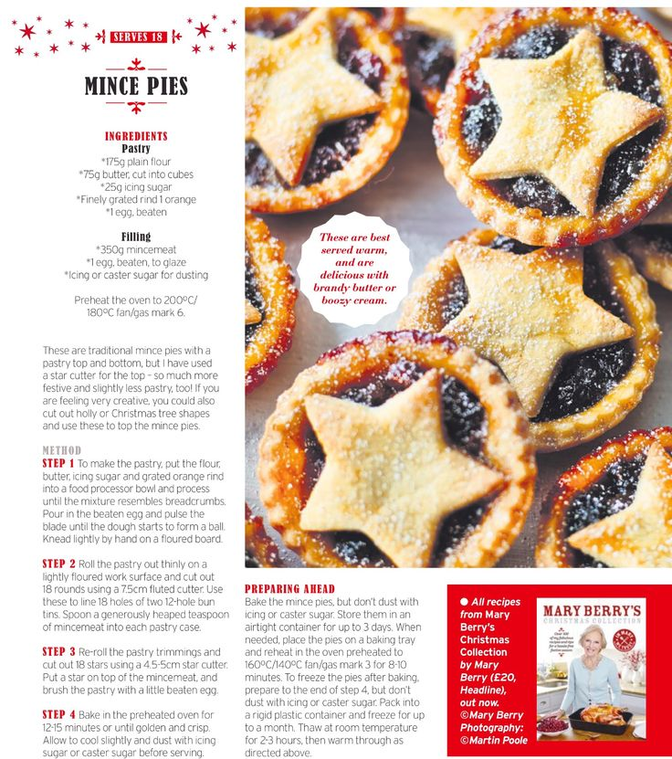 Mary Berry Christmas Mince Pie recipe