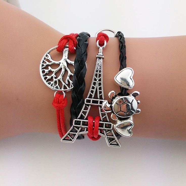 Limited Quantities Available: Eiffel Tower, Tur...  Buy Now!: http://www.synonyco.com/products/eiffel-tower-turtle-tree-bracelet?utm_campaign=social_autopilot&utm_source=pin&utm_medium=pin