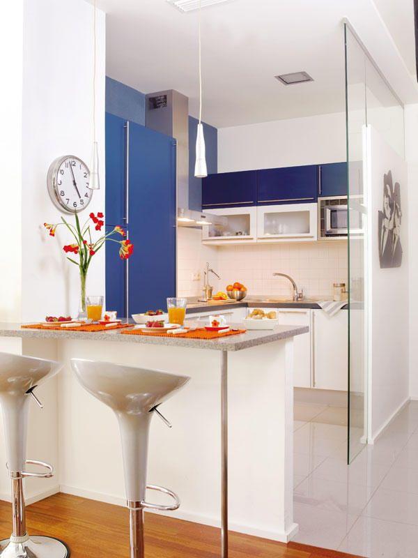 Cocinas con una pr ctica barra cocinas barra cocina y for Kitchen design 10 5 full patch