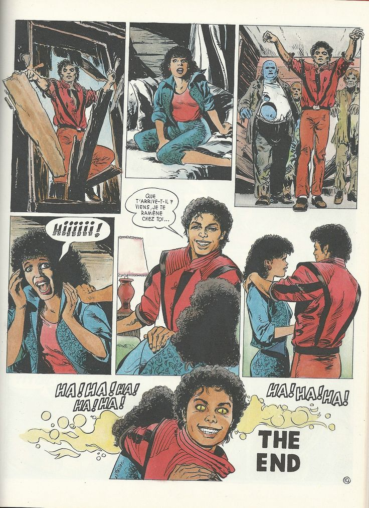 "#MichaelJackson ""Il était une fois - Michael Jackson"", #Disney, France 1985 MJ Thriller comic? awesome"