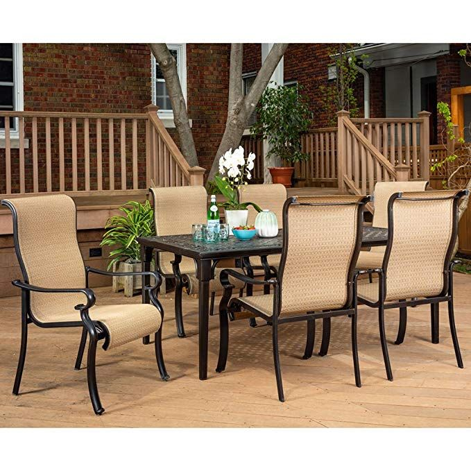 Amazon Com Brigantine 7 Piece Rust Free Aluminum Outdoor Patio