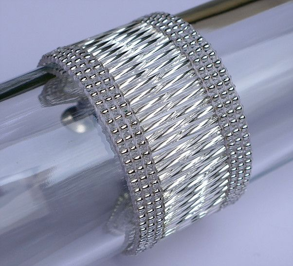 pulseira tear canutilhos,  bugle bead looming bracelet, cs-crafts