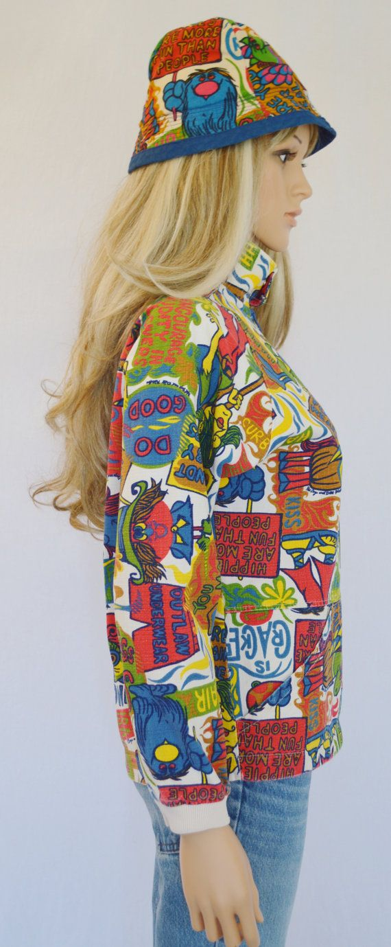 Vintage 1960's PsYcHeDeLiC HiPPiE CaRtOOn by ElectricLadyland1, $489.99