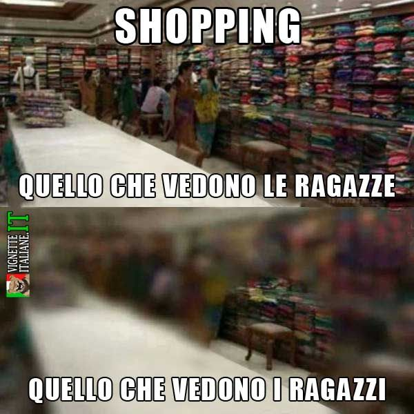 Shopping tra ragazzi e ragazze