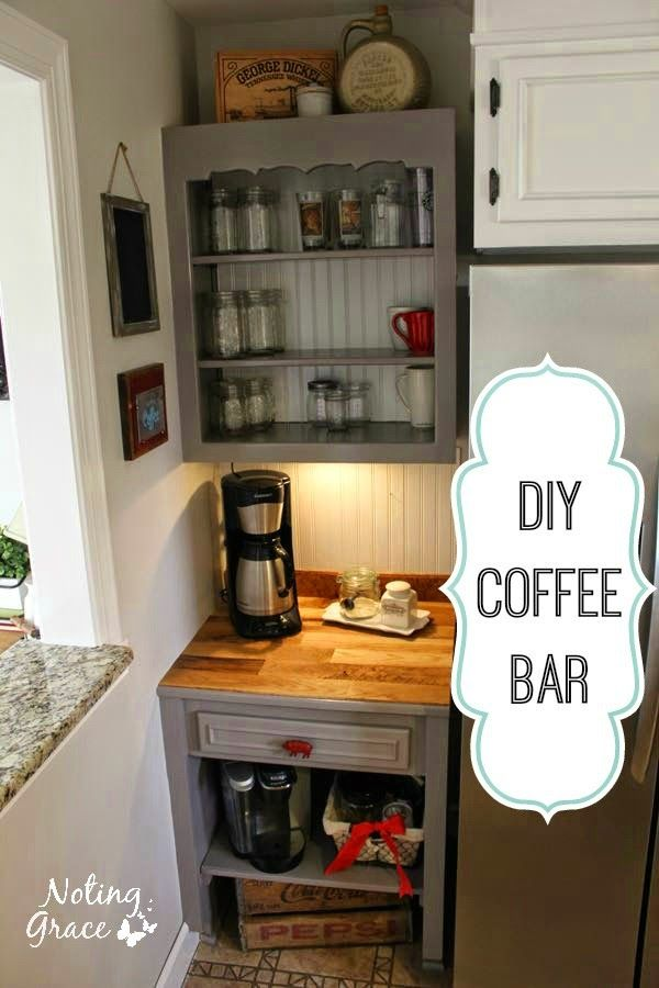 **Noting Grace**: Farmhouse Kitchen Remodel - The Coffee Bar