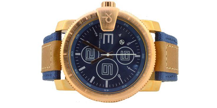 Ανδρικό ρολόι DANIEL KLEIN 10296-2.Διάμετρος καντράν 50mm, Αδιάβροχο:3 ΑΤΜ, Λουρί: ύφασμα τζιν με δέρμα, Εγγύηση:2 χρόνια επίσημης αντιπροσωπείας.