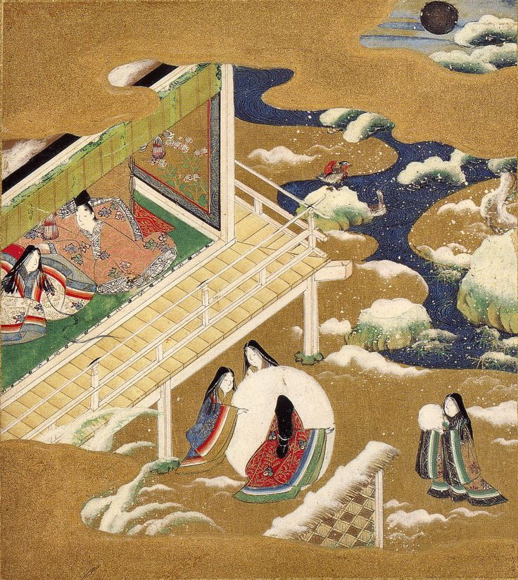 Ilustration of the The Tale of Genji, ch.20–Asagao, traditionally credited to Tosa Mitsuoki (1617–1691)