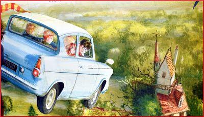 ☼ LONDON, Harry Potter, fliegendes Auto, Hogwarts, Ron, Hermine