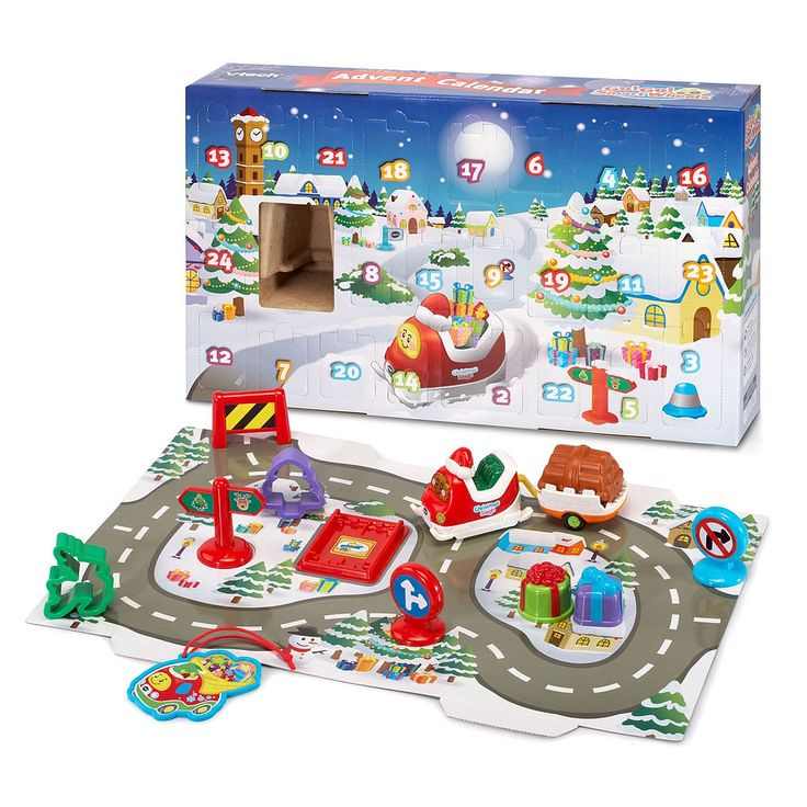 Déclenchez le compte à rebours jusqu'à Noël grâce au Super calendrier de l'avent des Tut Tut Bolides de VTech. Abaissez le devant de la boîte pour découvrir 24 portes numérotées et un cadeau-surprise derrière chaque porte. En ouvrant la première porte du calendrier, voici qu'apparaît Raphaël, le traîneau du père Noël compatible avec les zones magiques. En déposant le traîneau de Noël à collectionner sur les zones magiques du circuit de la boîte, votre tout-petit entendra des phras...