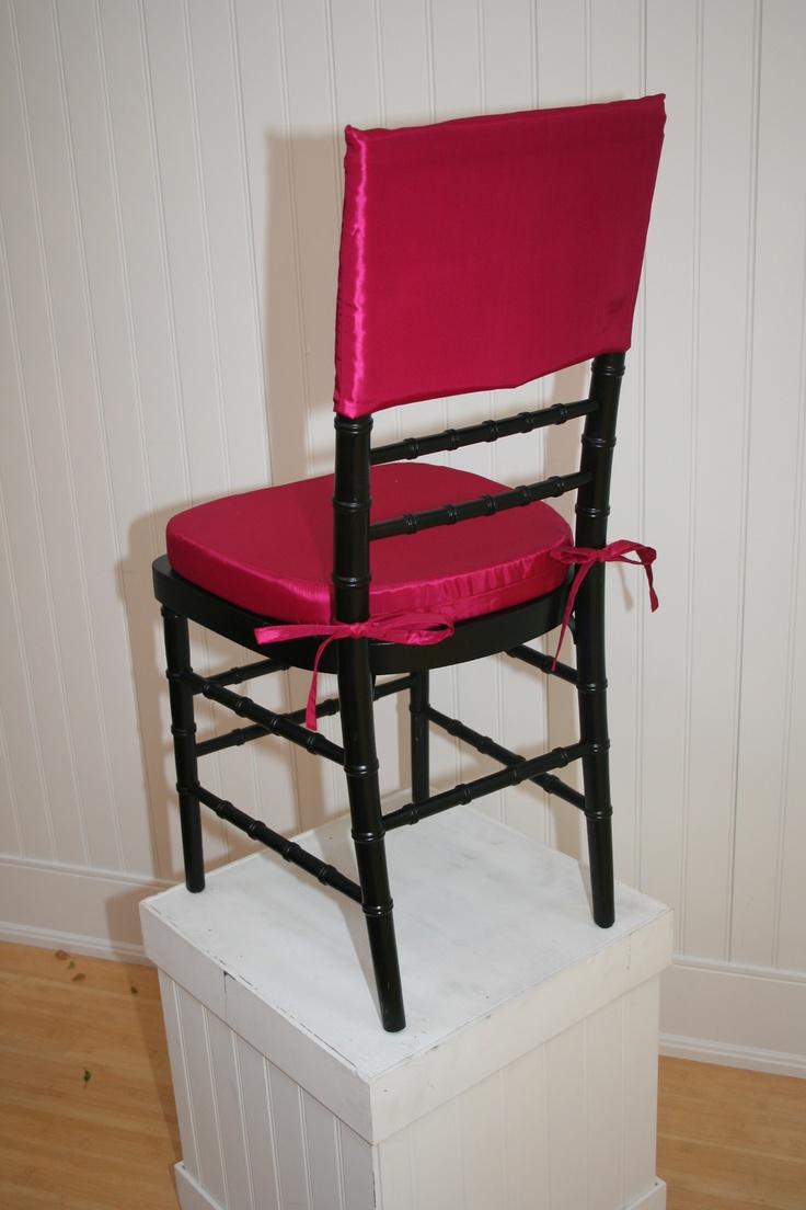 Bauer plantation chair - La Tavola Fine Linen Rental Crinkle Fuchsia Chair Cap Taffeta Fuchsia Chair Cushion