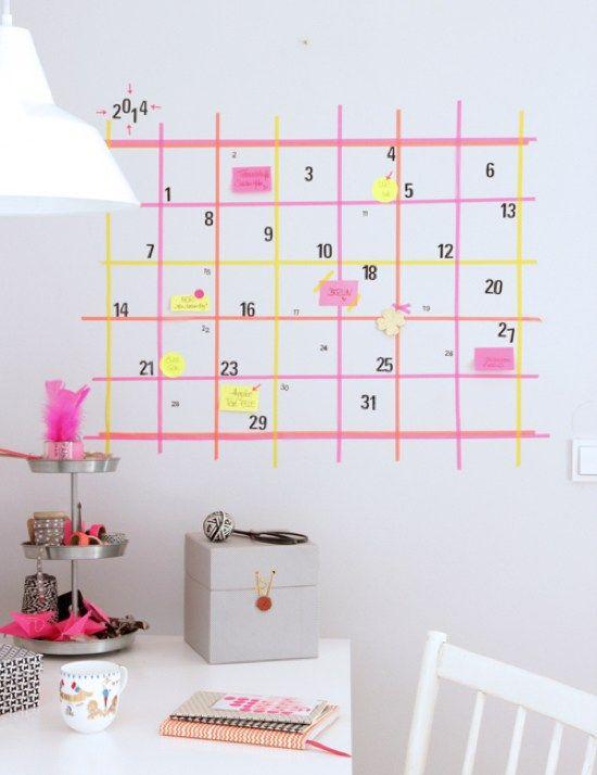 ¿Oficina en casa? Que no se te escape ninguna fecha importante con este calendario DIY.