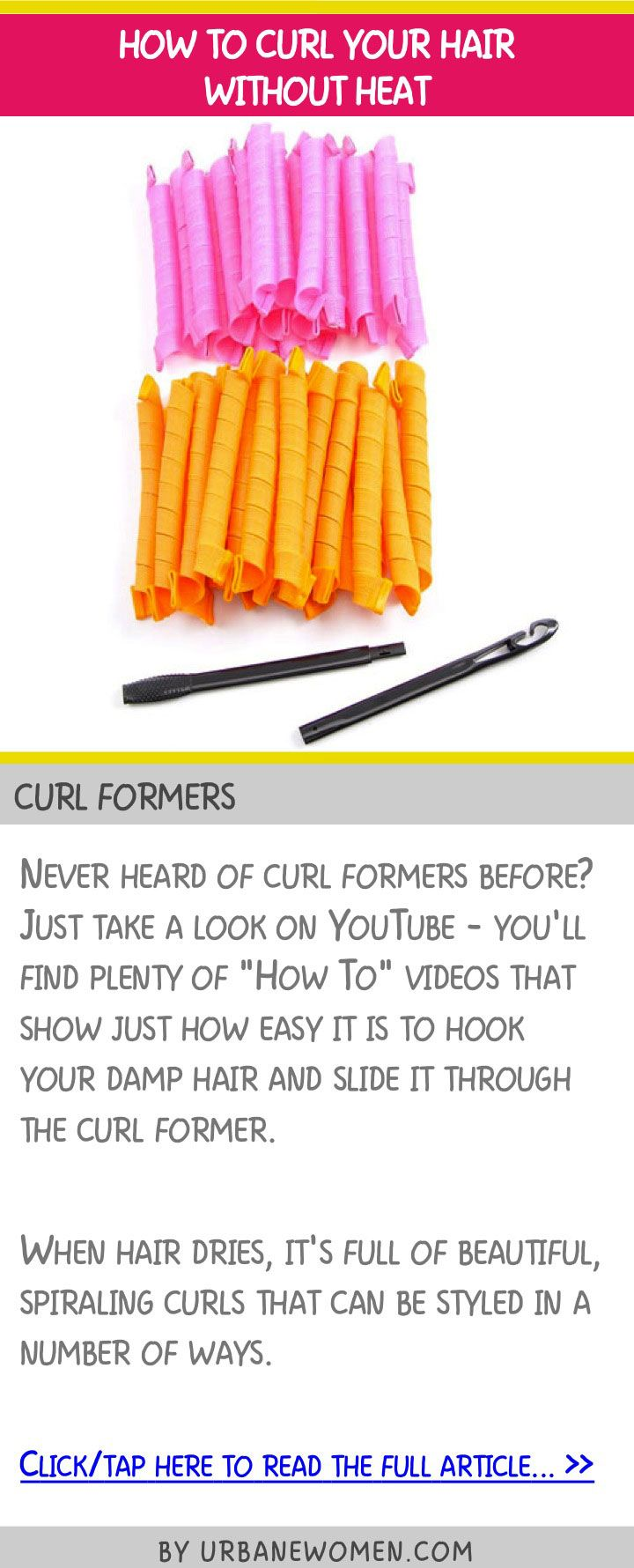 How to curl your hair without heat - Curl formers