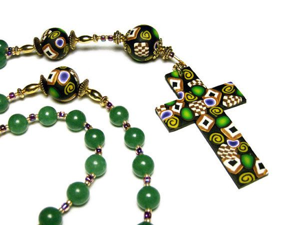 Green Aventurine Anglican Rosary Prayer Beads by SweetchildJewelry