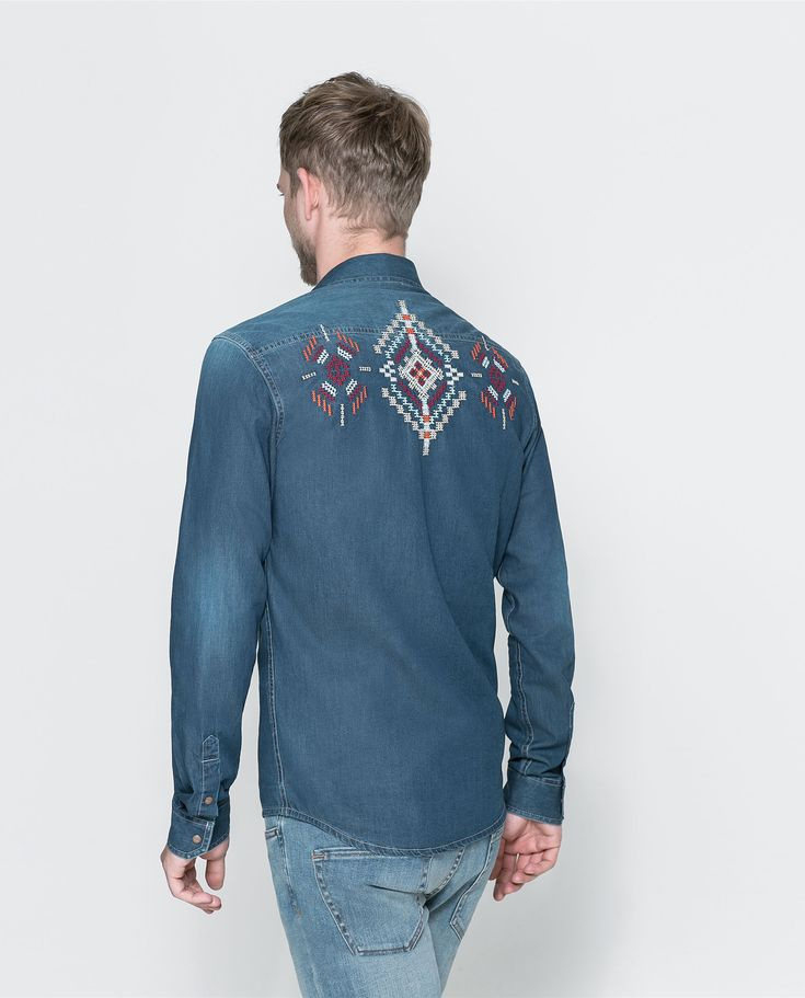 ZARA - MAN - SHIRT WITH EMBROIDERED BACK