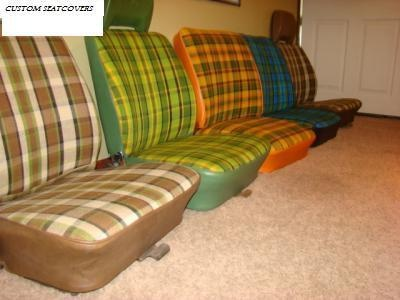 Vw Bus Westfalia Custom Made Plaid Fabric Seat Covers